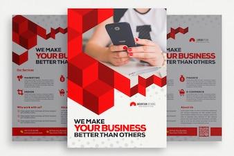 Brochure commerciale géométrique