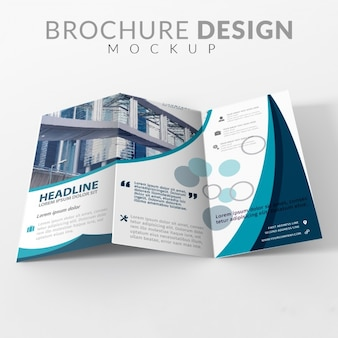 Brochure maquette de conception