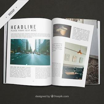 Business magazine mockup
