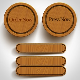 Buttons collection en bois
