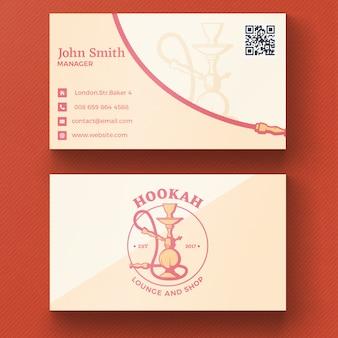 Carte de visite Hookah