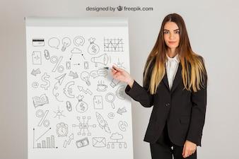 Concept d'entreprise avec tableau