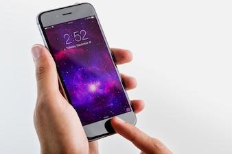 Écran de téléphone mobile maquette conception