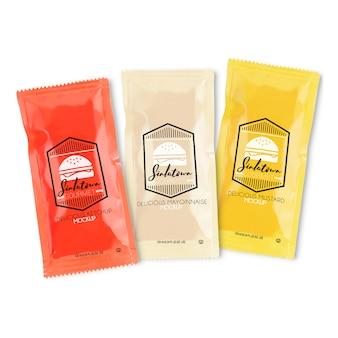 Emballage de sauce mock up
