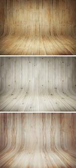 étapes en bois courbe milieux