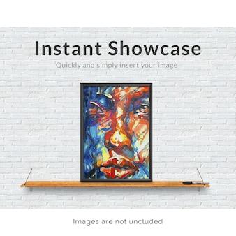 Frame on shelf mock up