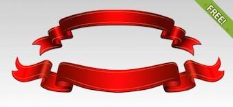 Gratuit PSD rubans rouges
