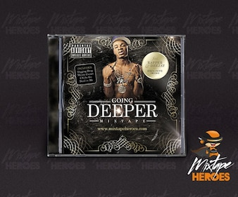 Hip Hop / Rap CD modèle de couverture