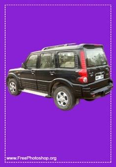 Incroyable jeep noire psd