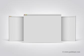 L'écran d'affichage à matrice de navigateur mac