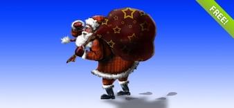 Layered PSD Santa Claus