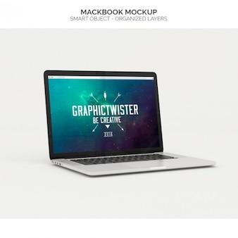 Macbook réaliste maquette