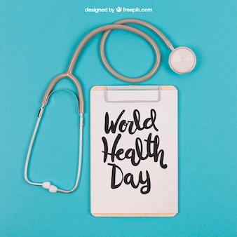 Maquette médicale avec le presse-papier