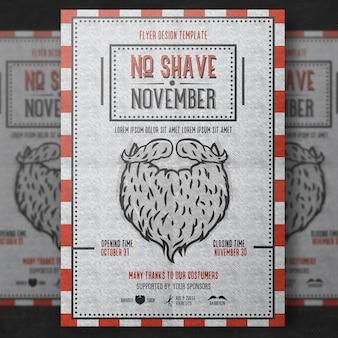 Modèle d'affiche Movember