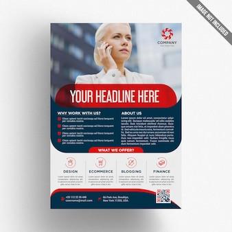 Modèle de brochure commerciale classique
