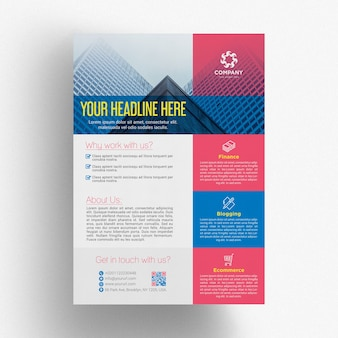 Modèle de brochure commerciale colorée