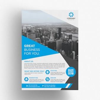 Modèle de brochure commerciale élégante