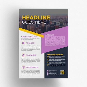 Modèle de brochure commerciale moderne