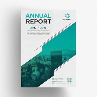 Modèle de brochure commerciale verte