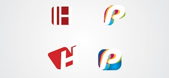 P et lettres logo h