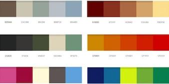 Palettes de couleurs magnifiques psd