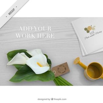 Photo créative avec une décoration pour votre travail