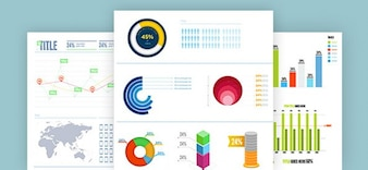 Psd templates infographiques