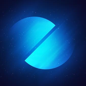 Résumé fond bleu