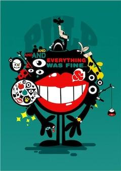 Rétro conception de l'affiche avec l'esthétique pop