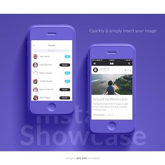 Smartphone mock up design