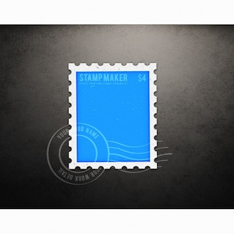 Stamp maquette conception