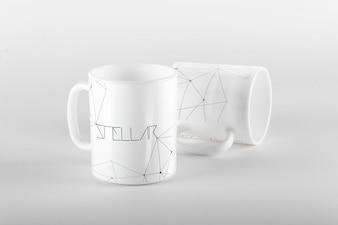 Tasse maquette de conception