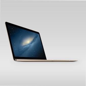 Vue latérale de l'écran pour ordinateur portable se moque