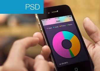 Apps stat con una vista e grafico