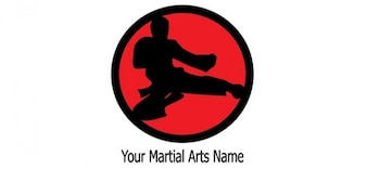 Arti marziali logo modello di progettazione