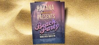 beach party psd volantino modello
