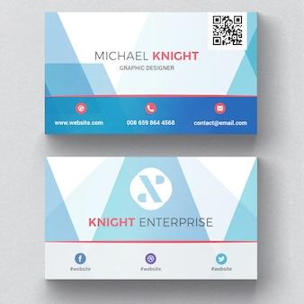 Biglietto da visita blu aziendale