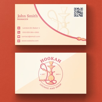 Biglietto da visita del hookah