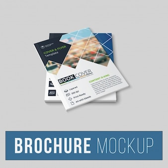 Brochure mock up di progettazione