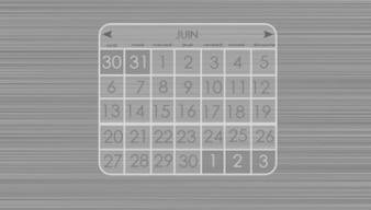 Calendario grigio
