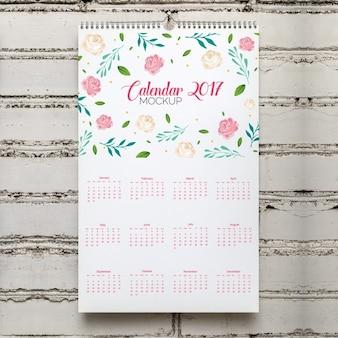 Calendario mock up di progettazione