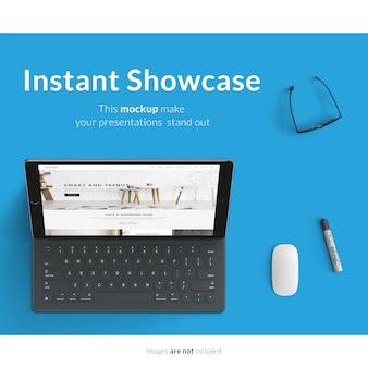Computer portatile mock up design