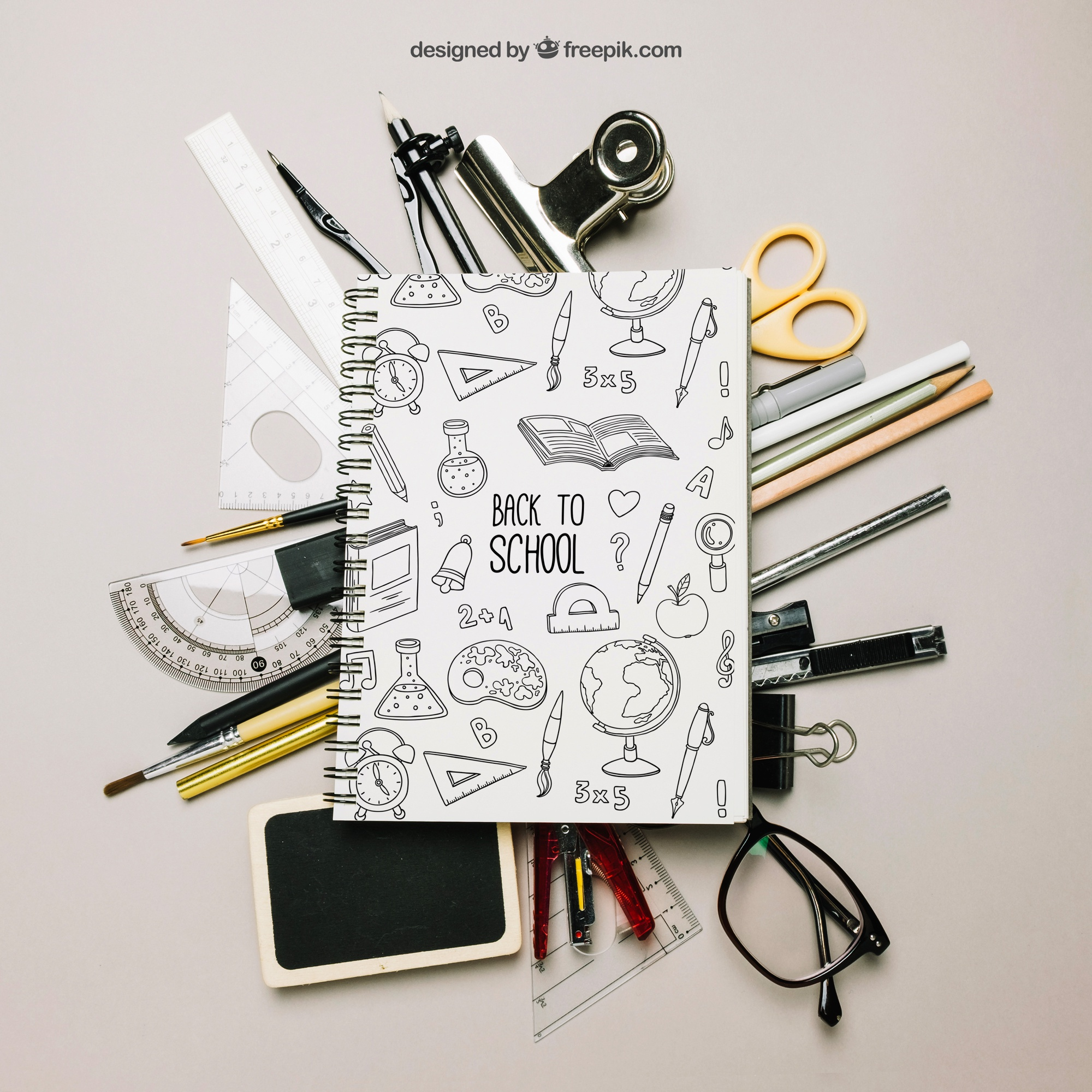 Creative back to school template