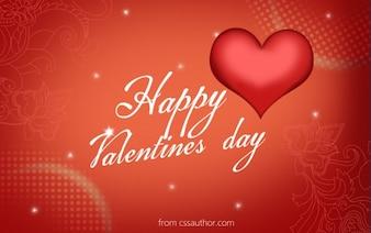 Download free di alta qualità happy day valentines saluto modello di scheda psd