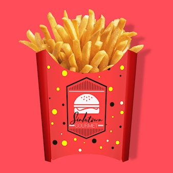 Imballaggi di patatine fritte