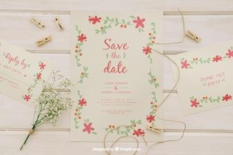 Inviti di nozze e elementi di nozze