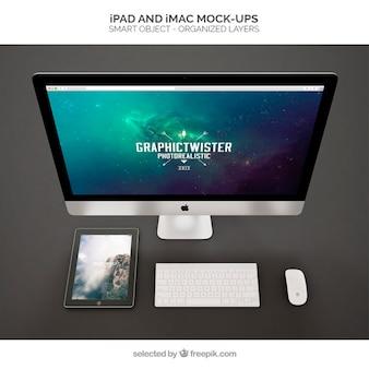 Ipad e mockup iMac
