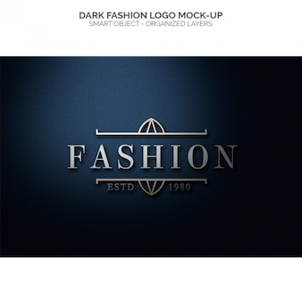 Logo moda scuro mock up