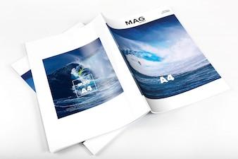 Magazine mock up di progettazione