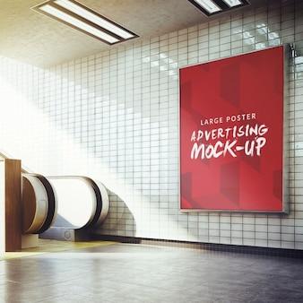 Manifesto della metropolitana mock up di progettazione